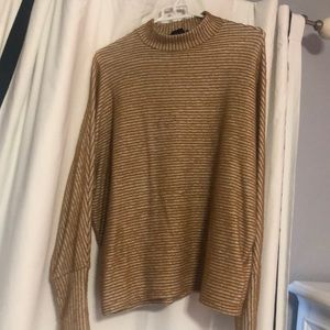 Out From Under golden and cream stripe sweater